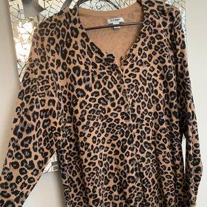 Old Navy Leopard / Cheetah Cardigan Sweater XXL